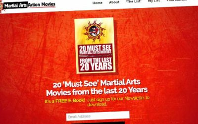Martial Arts Action Movies Website Design