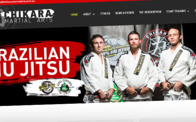 Chikara Martial Arts Website Redesign