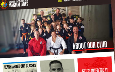 Sunshine Coast Academy for Martial Arts Web Design