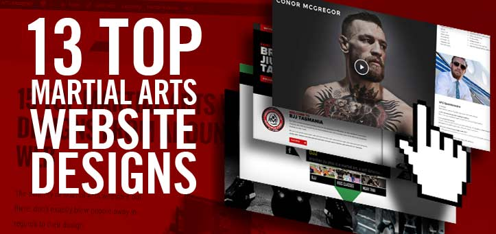 13 Top Martial Arts Web Designs from Around the Web